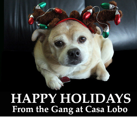 Happy Holidays from Casa Lobo